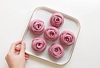 宝宝辅食·玫瑰花紫薯牛奶馒头的做法