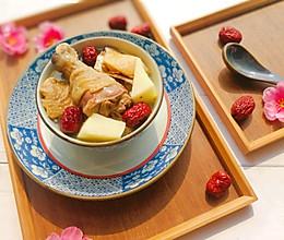 山药红枣煲鸡汤的做法