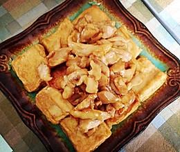 鸡丁爆千叶豆腐的做法
