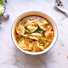 酸汤水饺#一道菜表白豆果美食#