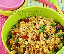 韩国泡菜炒香肠蔬菜饭的做法