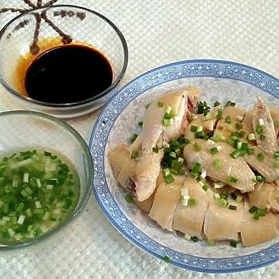 清淡不油腻的: 白切鸡 白斩鸡 粤菜 两种蘸料