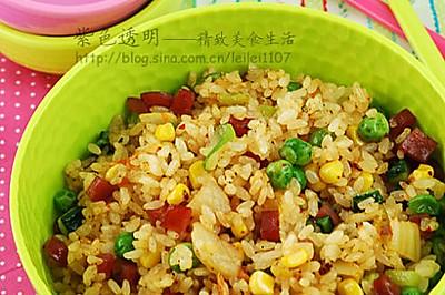 韩国泡菜炒香肠蔬菜饭
