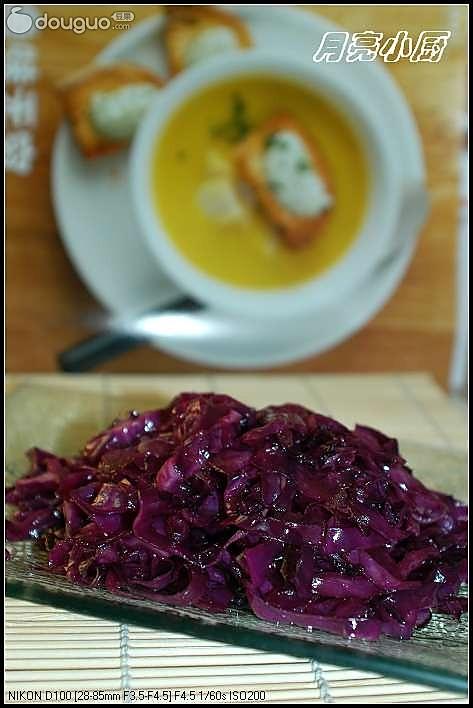 糖醋紫甘兰的做法