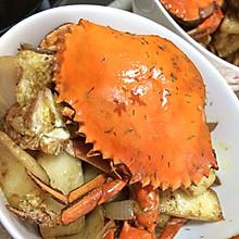 咖喱炒年糕螃蟹