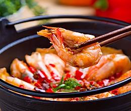 蒜蓉豆腐焖虾的做法