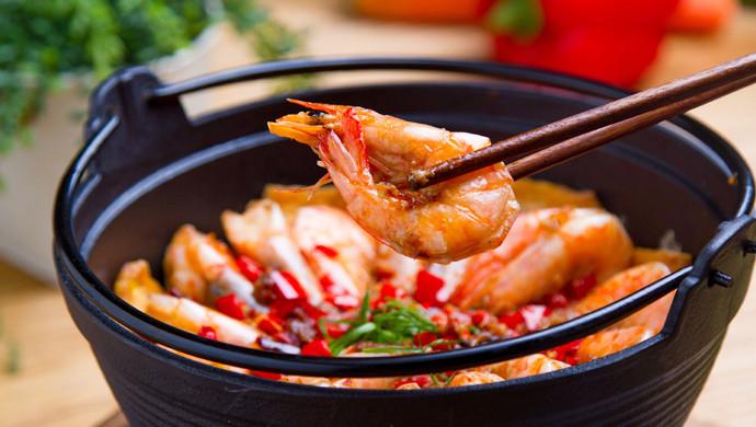 蒜蓉豆腐焖虾