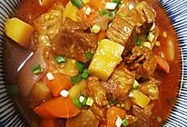 番茄胡萝卜炖牛腩的做法