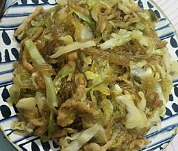白菜炒粉丝(藤椒味)的做法