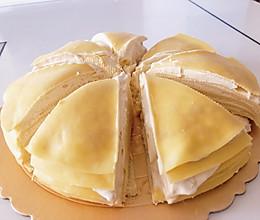 网红榴莲蛋糕,自己在家也可以制作的做法