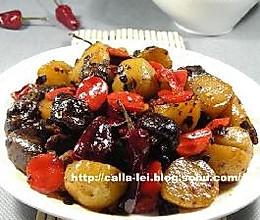 小土豆焖小香菇的做法