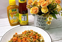 #太太乐鲜鸡汁芝麻香油#豌豆炒肉丁的做法