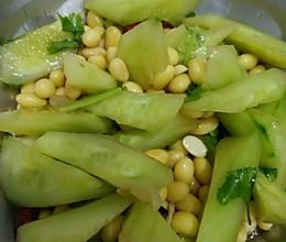 营养凉拌素菜♥黄豆黄瓜的做法