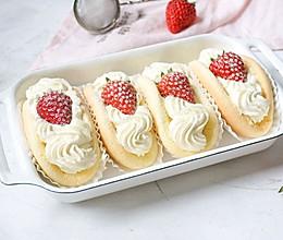 草莓饺子蛋糕的做法