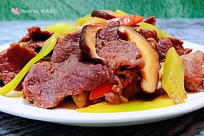 萵筍香菇炒牛肉片
