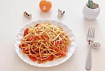 番茄素意大利面的做法