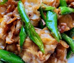 干煸尖椒肉片的做法