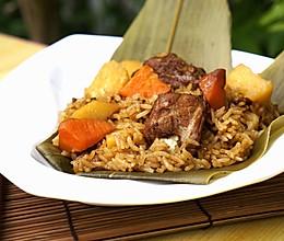粽香排骨土豆饭的做法