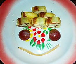 宝宝餐之金色土司卷【2岁以上,2人份】的做法