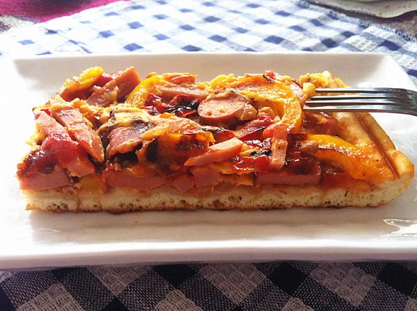 自制方型披萨【利仁电饼铛试用5】的做法