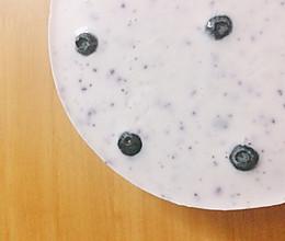 蓝莓酸奶慕斯蛋糕(无奶油版)的做法