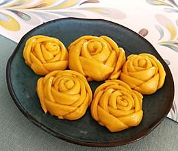 春天的面食-南瓜花朵卷的做法