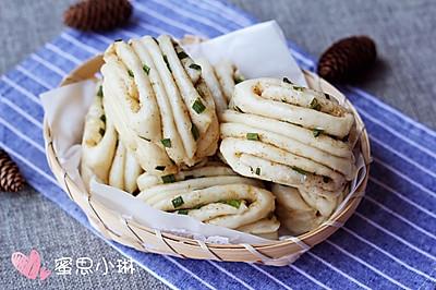 椒盐葱香花卷
