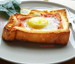 西红柿太阳蛋吐司(烤箱版无油烟)的做法
