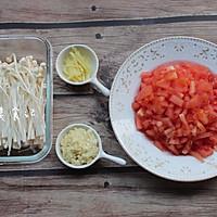 金针菇番茄肥牛锅的做法图解1