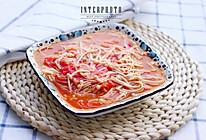 番茄烩金针菇的做法