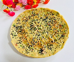 豇豆鸡蛋火腿黑芝麻早餐饼的做法