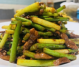 嫩蒜苔炒肉丝的做法