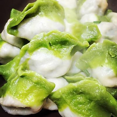 翡翠白菜-------新年饺子的做法 步骤7