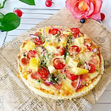#全电厨王料理挑战赛热力开战!#菠萝米饭披萨