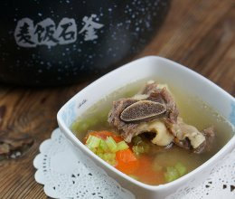 双蔬牛骨汤(炖)#胆.敢不同,美的原生态AH煲#的做法