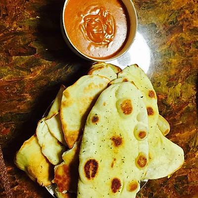 印度咖喱配法香烤饼