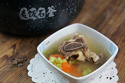 双蔬牛骨汤(炖)#胆.敢不同,美的原生态AH煲#