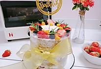 抹茶草莓裸蛋糕的做法