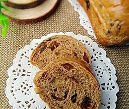 红糖红枣核桃面包的做法