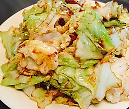 「快手菜」干锅包菜的做法