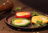 七色早餐 : 彩椒圈太阳花煎蛋的做法