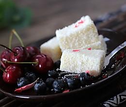 夏日冰爽小甜点--椰蓉牛奶小方的做法