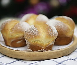 海绵蛋糕般松软Q萌的糯米粉屁股面包的做法