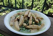 潮汕肉饼炒剪刀菜的做法