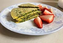 儿童补钙早餐:苋菜鸡蛋饼的做法