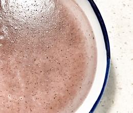 黑米牛奶营养米糊的做法
