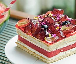 日食记丨玫瑰西瓜蛋糕的做法