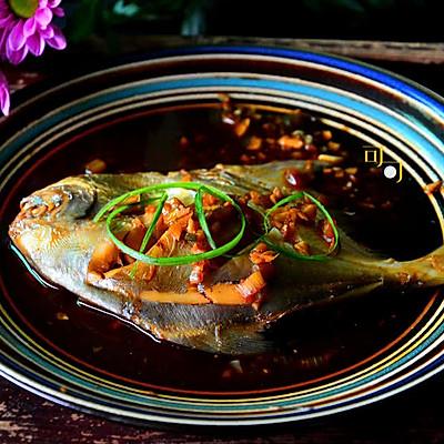 蒜香糖醋鲳鱼