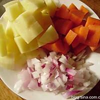 番茄蔬菜浓汤的做法图解2