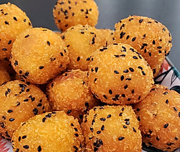 红薯糯米球的做法